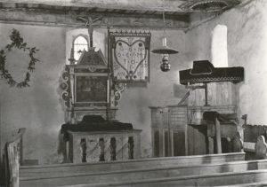 Kapelle, Blick zum Altar, 1933 oder 1936 (?), Urheberrecht: Bildarchiv: Niedersächsisches Landesverwaltungsamt Hannover, Landeskonservator