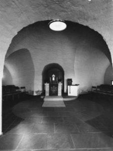 Kapelle, Blick zum Altar, 1958