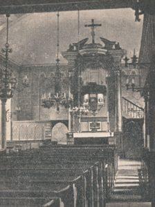 Kirche, Blick zum Altar, 1940