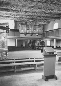 Kirche, Blick zur Orgel, Foto: Ernst Witt, Hannover, Mai 1959