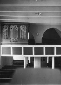 Kirche, Blick zur Orgel, vor 1969 (?)