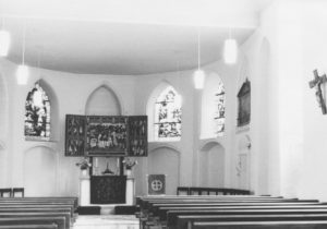 Kirche, Blick zum Altar, nach 1974, vor 1997