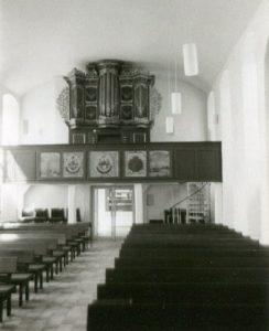 Kirche, Blick zur Orgel, vermutlich 1980