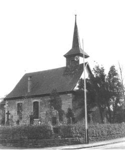 Kirche, Ansicht von Nordwesten, um 1955