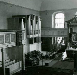 Gemeindekirche St. Marien, Blick zum Altar bzw. zur Orgel
