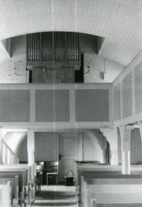 Kirche, Blick zur Orgel, nach 1968 (1968 Neubau der Orgel)