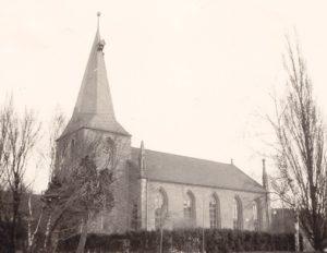Kirche, Ansicht von Südwesten, vielleicht 1973