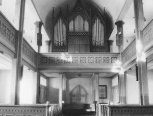 Kirche, Blick zur Orgel, vielleicht 1973