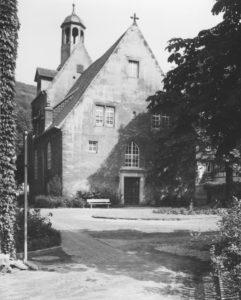 Kirche, Ansicht von Nordwesten, Foto: Ernst Witt, Hannover, 1959