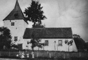 Ansicht der Kirche von Süden, 1908