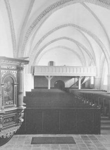 Kirche, Blick nach Westen, Foto: Ernst Witt, Hannover, April 1965