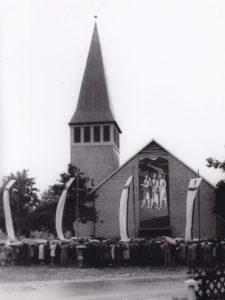 Kirche, Ansicht von Westen, 19.08.1962 (Einweihung)