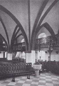 Kirche, Blick nach Westen, 1935