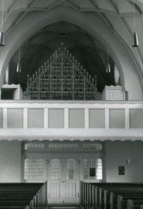 Neue Kirche, Blick zur Orgel