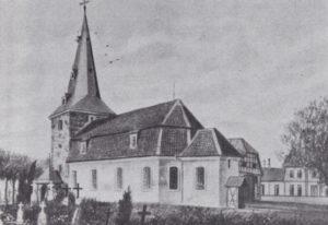 Alte Kirche, Ansicht von Südosten, Aquarell, vor 1916