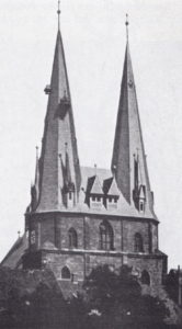 Kirche, Ansicht von Westen, 1929