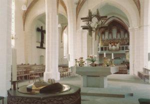 Blick zur Orgel, Foto als Postkarte, nach 1978
