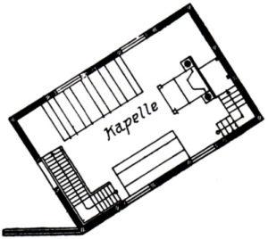 Kapelle, Grundriss, 1929