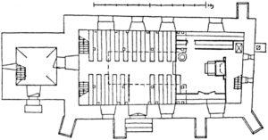 Kirche, Grundriss, 1941