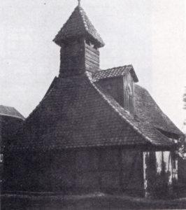 Kapelle, Ansicht von Westen, 1931