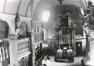 Kirche, Blick zum Altar, 1927, Foto: Bildarchiv Niedersächsisches Landesverwaltungsamt Hannover, Landeskonservator