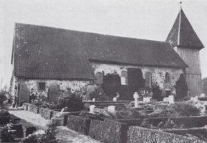 Kirche, Ansicht von Norden, 1962