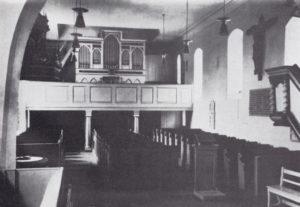 Kirche, Blick zur Orgel, 1962