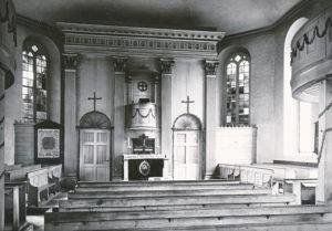 Kirche, Blick zum Altar, 1935, Foto: Bildarchiv Niedersächsisches Landesverwaltungsamt Hannover, Landeskonservator