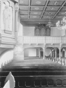 Kirche, Blick zur Orgel, 1953