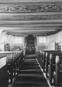 Kirche, Blick zum Altar, Foto: Ernst Witt, Hannover, März 1966