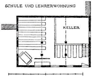 Alte Kapelle von 1760, Grundriss
