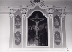 Altaraufsatz von 1911, 1958 (?), Postkarte, Foto: Heinz Liegmann, Leer