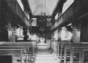 Kirche, Blick zum Altar, um 1900/1910