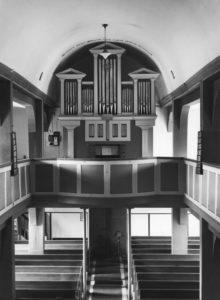 Kirche, Blick zur Orgel, nach 1961 (?)