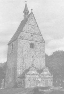 Glockenturm, Ansicht von Nordwesten, Postkarte, Fotograf: R. Bechauf, Bielefeld