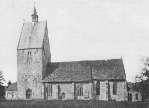 Kirche, Ansicht von Süden, Foto: H. Siebern, 1905