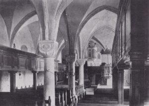Kirche, Blick zum Altar, Foto: H. Siebern, 1905