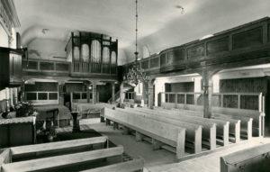 Kirche, Blick zur Orgel, vor 1975