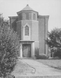 Alte Kapelle von 1929, Außenansicht, vor 1956