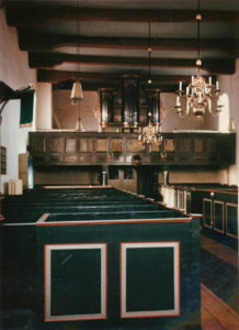 Kirche, Blick zur Orgel, Foto: Ernst Witt, Hannover, August 1956