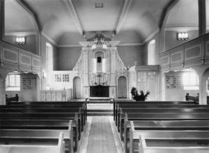 Kirche, Blick zum Altar, 1961 (?), Foto Schreiber-Bruchhausen-Vilsen