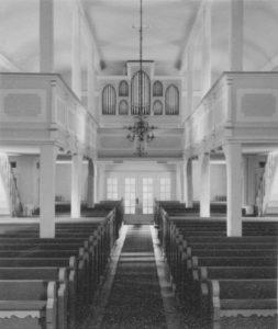 Kirche, Blick zur Orgel, Foto: Ernst Witt, November 1960
