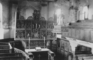 Kirche, Blick zum Altar, 1923