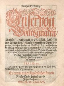 Titelblatt der Lauenburger Kirchenordnung von 1585