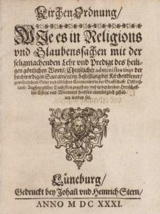 Titelblatt der Ostfriesischen Kirchenordnung von 1716