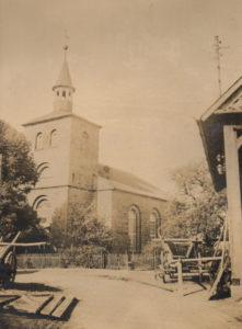 Kirche Bredelem, außen, um 1920