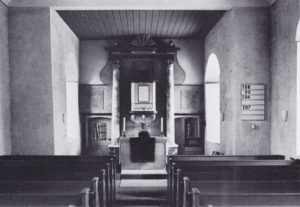 Kirche, Blick zum Altar, 1974
