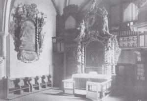 Kirche, Blick in den Chor, vor 1915