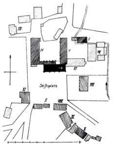 Stift, Lageplan, vor 1915