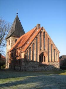 Kirche, Ansicht von Südosten, Foto: Ernst Günther Behn, Klein Gußborn